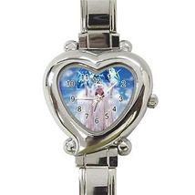 Christmas Angel Earth Heart Italian Charm Watch - $9.39