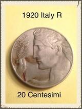Italy 1920 R 20 Centisimi Coin - $18.00