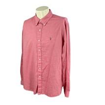 Ralph Lauren Polo Men's Chambray Oxford Long Sleeve 100% Cotton Red Shir... - $18.79