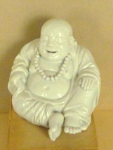 Blanc de Chine Porcelain Hotei Laughing Buddha Chinese  Mid-century Scul... - $245.00