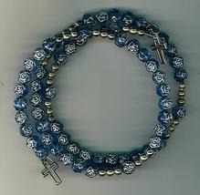 Bracelet Rosary - Blue - 1191A/BLU - $9.99