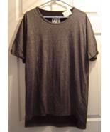 New Straight Faded Mens Shirt L Cotton Knit Black Short Sleeve Longer Fi... - $18.99