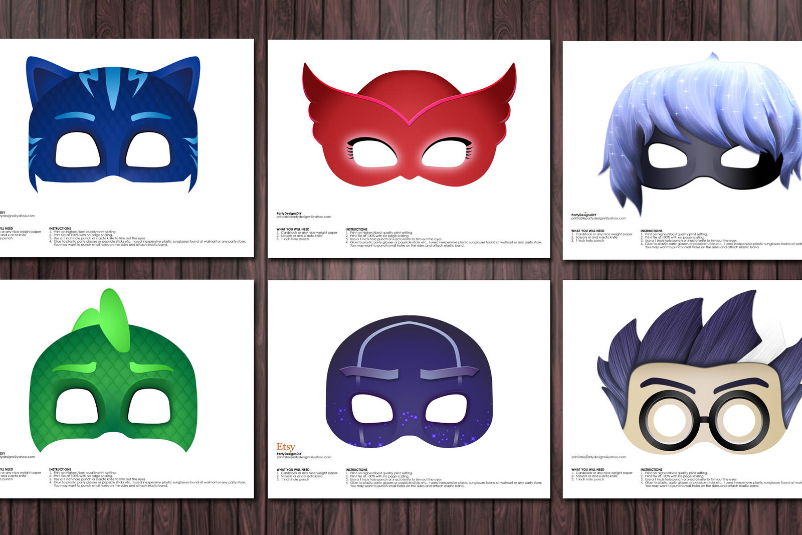 This is a graphic of Declarative Pj Masks Mask Printable