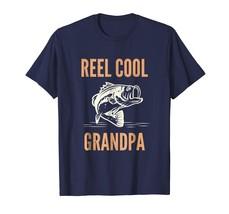 New Tee - Reel Cool Grandpa T-Shirt Funny Saltwater Bass Fishing Tee Men - $19.95+