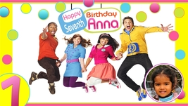The Fresh Beat  Band -Personalized- Birthday Banner JUMP! w/Photo -Pink - $39.95