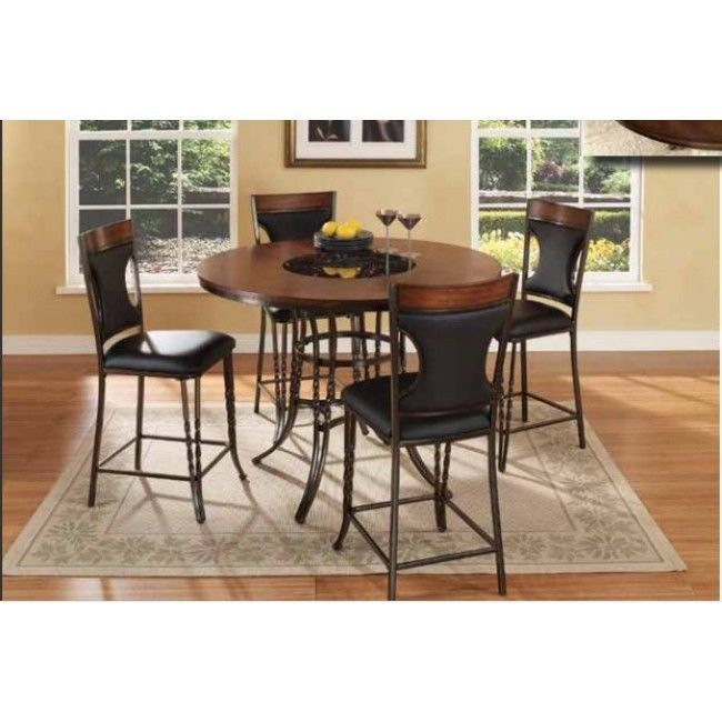 mcferran dynasty counter high dining room set 5pc chic