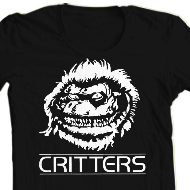 Critters T-shirt retro horror film sci fi film zombie 70's 80s tee free shipping