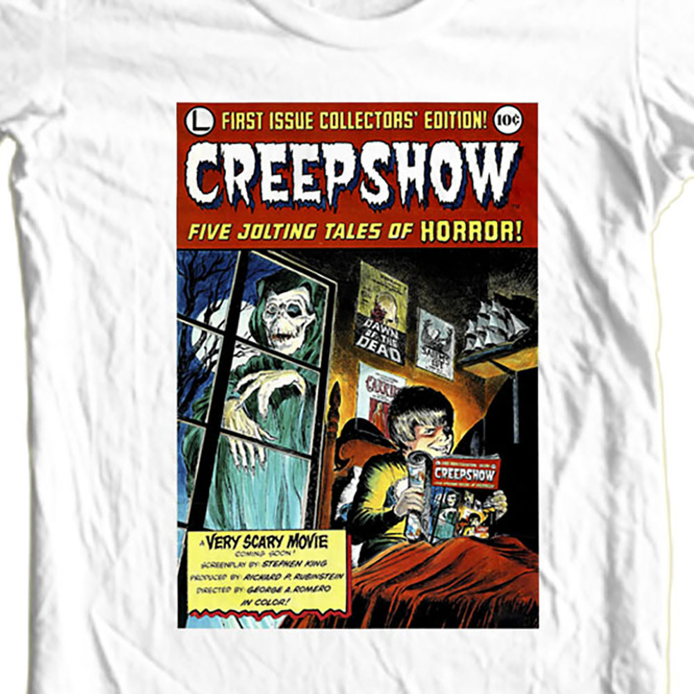 Creepshow comic movie poster white t shirt