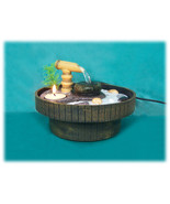 Zen Garden Pouring Bamboo Feng Shui Water Fountain with Candle Sand and ... - $67.30