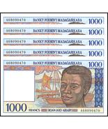 Madagascar 1,000 (1000) Francs X 5 Pieces (PCS), 1994, P-76b, UNC - €11,41 EUR