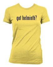 got helminth? Ladies' Junior's Cut T-Shirt - $24.97