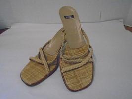 Stuart Weitzman Brown Heels Shoes 7 1/2 M Pre-owned Spain Leather Open Toe  - $18.48