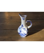 Hand Painted Delft Blue Small Flower Vase - $39.63 CAD