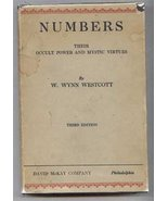 NUMBERS: Their Occult Power and Mystic Virtues Westcott, Wil - $195.00