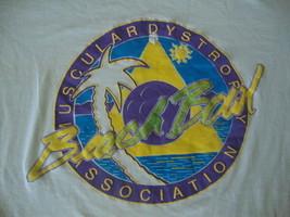 Vintage 80's Muscular Dystrophy Association BEACH BOWL T Shirt XL - $15.83