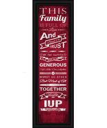 "Indiana University of Pennsylvania - 24x8 ""Family Cheer"" Framed Print - $39.95"
