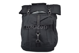 Timberland Unisex 24L Roll Top Backpack With Leather Trim Black - $75.00