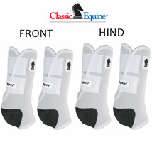 Classic Equine Legacy2 Horse Front Hind Sports Boots 4 Pack White U-02WH - $173.98