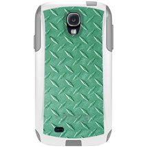 CUSTOM White OtterBox Commuter Series Case for Samsung Galaxy S4 - Green... - $39.58