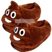 QQ Emoji Poop Modelling Warm Plush slippers for Autumn and winter - $11.62