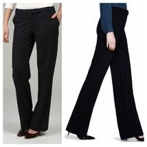 WHBM Legacy 0 Black White Pinstripe Wool Blend ... - $37.32