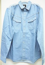 Insight blue washed denim long shirt m man   05 thumb200