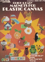 Quick & Easy Magnets, Plastic Canvas Pattern Booklet LA 226 Fridgies & More - $1.95