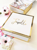 5 Personalized Gold Foil Will You Be My Bridesmaid Bridal Party Gift Box... - $124.95