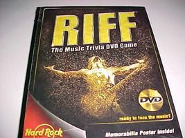 Hard Rock Riff The Music Trivia DVD Game 2005 Memorabilia Poster Included New - $24.74
