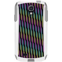CUSTOM White OtterBox Commuter Series Case for Samsung Galaxy S4 - Neon ... - $39.58