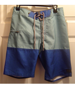 New Split Swimsuit  Two Tone Board Shorts Sz 28 Zippered Pocket NWT - $34.99