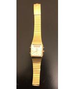 Vintage Pulsar V031-5080 QUARTZ Men's Watch 80's Gold  Tone Japan Needs ... - $74.25