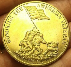 Honoring The American Veteran Preserving American Freedom Bronze Medallion 39mm - $10.08