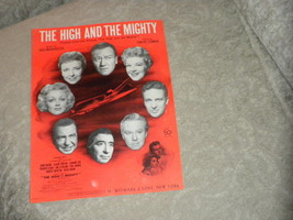 High and the Mighty film theme sheet music w John Wayne; Claire Trevor 1... - $6.91