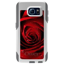 CUSTOM White OtterBox Commuter Series Case for Samsung Galaxy S6 - Dew C... - $39.58