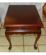 Mahogany Mersman End Table / Side Table with Dr... - $299.00