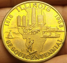 Illinois 1968 Sesquicentennial Celebration Medallion~38.5mm - $6.92