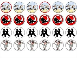24 Karate Edible Wafer Paper Cup Cake Toppers by CakeThat - $9.99