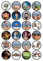 Toy Story Edible PREMIUM THICKNESS SWEETENED VANILLA, Wafer Rice Paper C... - $9.99
