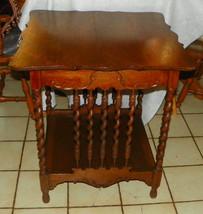 Quartersawn Oak Barley Twist Center Table / Parlor Table - $599.00