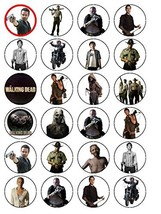 24 The Walking Dead Edible Wafer Paper Cup Cake Toppers by CakeThat - $13.21 CAD
