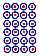 24 Birthday Cake Toppers 4cm On Icing - RAF War Airplane Plane targets b... - $13.41 CAD