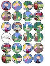 24 Ben & Holly's Little Kingdom Edible Wafer Paper Cup Cake Toppers by C... - $13.41 CAD