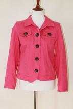 Christopher & Banks Pink/Coral Jacket Blazer Women's Button Down Size Sm... - $42.06