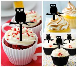 Ca185 Decorations Wedding,Birthday Cupcake topper,silhouette owl : 10 pcs - $10.00