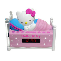Hello Kitty Sleeping Kitty Alarm Clock Radio with Night Light - $46.35