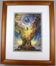 Millennium Tree by Josephine Wall Fantasy Abstract Double Matted & Framed - $44.54