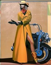 Ride That Pony by David DeVary Motorcycle Cowgirl Giclee Print On Paper ... - $346.50