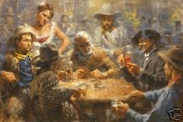 Draw Poker  by Andy Thomas S/N LE Western 22 x ... - $207.90