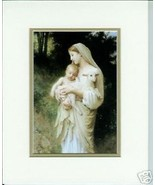 Innocence by Bouguereau Old Masters Print Mary & The Christ Child & Lamb... - $19.79